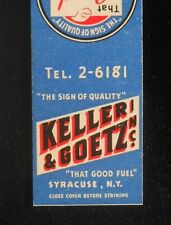 1940s Keller & Goetz That Good Fuel Blue Coal Niagara Hudson Coke Syracuse NY MB
