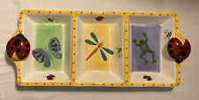 Bico China Ladybugs Bees Dragonfly Butterfly Frog Divided Ceramic Serving Dish