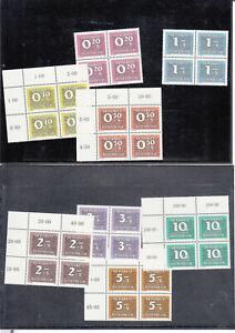 Österreich Porto Nr. 260-267 **, 4er Blocks