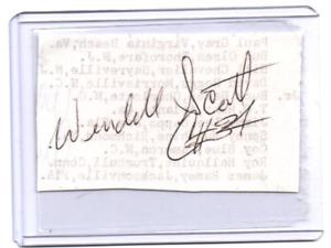 Wendell Scott original hand signed autograph