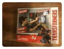 Transformers Glow in The Dark 54 Piece Wall Puzzle Jigsaw Sticker Kids Play Set