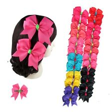 12pc Boutique Hair Bows Grosgrain Ribbon Kid Toddler Baby Girl Clip Alligator 4""