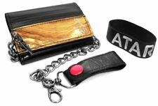 ATARI CHAIN WALLET & RUBBER WRISTBAND RETRO GIFT SET OFFICIAL VIDEO GAME CLASSIC