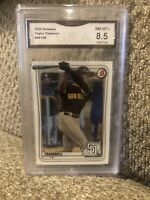 2020 Bowman TAYLOR TRAMMELL Padres #130  Rookie Graded 8.5
