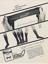 PUBLICITE ADVERTISING 094 1966 COLLEGIEN chaussettes se tendent & se detendent