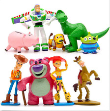 9 PCS Toy Story 3 Buzz Lighter Woody Jessie Dinosaur Lotso Action Figure Toys