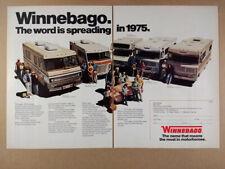 1975 Winnebago Custom Brave Minnie Indian & Chieftain Motorhome RV vintage Ad