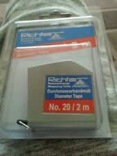 Richter.  2M. Diameter circumference tape measure.  New.