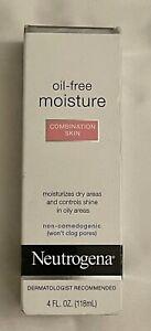 New! Neutrogena Oil free Moisture Combination Skin Moisturizer 4oz  (2401)