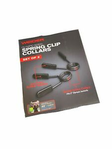 "Welder Set Of 2 Olympic 2"" Spring Clip Collar Weight Bar Clips Brand new"