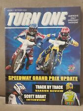 TURN ONE America's only Speedway Magazine. Volume 1 sept. 2002  very rare.