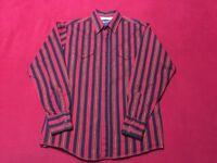 Vintage Wrangler Black Pearl Button Long Sleeve Western Shirt Mens Large NICE