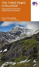 Three Peaks Challenge OS Map (Snowdon Cover)