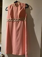 Incredible Vintage Bubble Gum Pink Daisy Dress Roughly Size 4-6