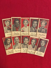 Vintage Peerless engrav-o-tint collector card lot  10 cards Como Shore Gabor