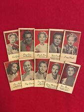 Vintage Peerless engrav-o-tint collector card lot  10 cards Como Shore Gabor