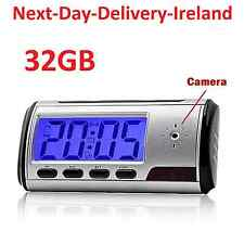 32GB Motion Detection Spy Nanny Clock Hidden Camera Wireless Video Recorder DVR