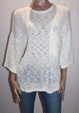 THE FIFTH LABEL Brand White Knitwear Oversized Short Sleeve Jumper Size M #SJ10