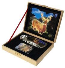 Big Buck Deer Knife w Oil Lighter In Display Box Kn512 hunting knives new sports