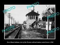 OLD POSTCARD SIZE PHOTO OF TERRE HAUTE INDIANA THE PRESTON RAILROAD DEPOT 1960