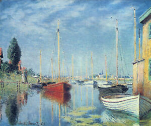 Full Drill Diamond Painting Kit Argenteuil Yachts Claude Monet 1875 Painting