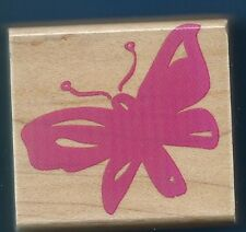 BUTTERFLY insect Entomology NEW Hero Arts E2639 Poetic Print wood Rubber Stamp