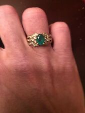14k Gold Emerald and Diamond Ring, Approx. Size 7, Approx. 3.45 g