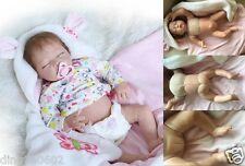 Realistic 22''Reborn Baby Doll Soft Half Body Silicone Sleepping Girl Growth toy