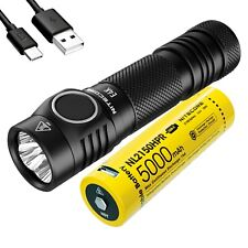 NITECORE E4K 4400 Lumen EDC Flashlight with 5000mAh USB-C Rechargeable Battery