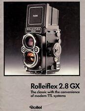 ROLLEIFLEX 2.8GX TWIN LENS REFLEX 6X6cm CAMERA SYSTEM BROCHURE -ROLLEI