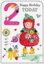 Girls 2nd Birthday Card