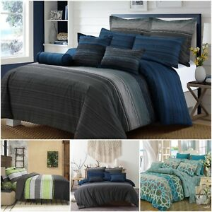 Single Double Queen King Super King Size Quilt Duvet Cover With Pillowcases Set