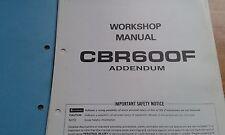 Suplemento Apéndice Honda CBR600F Manual De Servicio