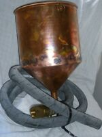 Vintage Oil Gas Can Petrol Diesel COPPER Funnel Hose Mint Condition Ex Defence