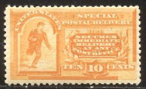 U.S. #E3 Mint - 1893 10c Orange, Special Delivery ($300)