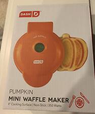 New Dash Mini Pumpkin Waffle Maker