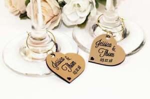 (25x) Wedding wine charms, Wine glass tags, Wedding favors, Custom wine charms