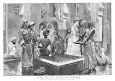 Il Marocco una visita all' Harem da Caton woodville-stampa antica 1887