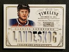 2013-14 NATIONAL TREASURES HOCKEY GABRIEL LANDESKOG ROOKIE PATCH #ED 7/25