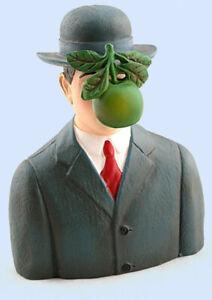 Rene Magritte Son Of Man Bowler Hat & Apple Resin Sculpture sm