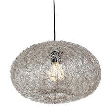 Hängelampe Drahtlampe indische Lampe Issa silber ø 36cm / H 18cm