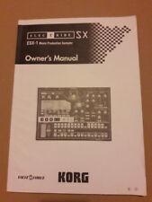 KORG Electribe ESX-1 Manuel Original Anglais 100 pages SX