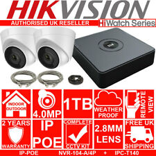 HIKVISION 4CH NVR 1080P POE HD Home CCTV X2 4MP Security Cameras System 1TB Kit