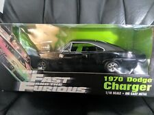 1970 Dodge Charger Fast and Furious Black ORIGINAL 1st Release 1:18 Ertl 33025