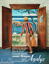 PUBLICITE ADVERTISING 115  1964  AGALYS   les draps TERGAL