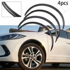 "4 x 21"" Black Carbon Fiber Car Wheel Eyebrow Flexible Fender Flares Lip Trim"