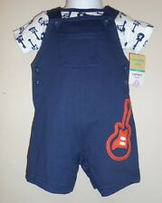 Carters Infant Boys Two (2) Piece Guitar Outfit Navy 9M NWT