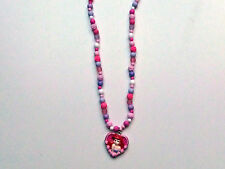 Mermaid Heart necklace pink & lilac  - Costume Jewellery Necklace