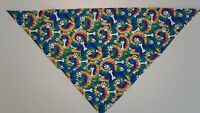 Dog-Bandana-Scarf-Blue-Paw-Prints-Bones-Custom-made-by-Linda-XS-S-M-L
