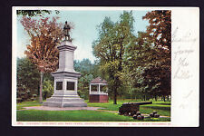 1905 military cannon Soldier's Monument Band Stand Brattleboro Vermont postcard